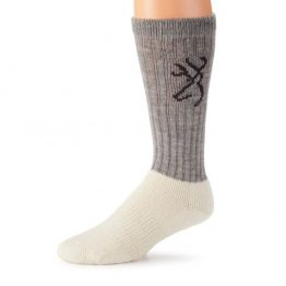 SOCK GREY NATURAL MED 1