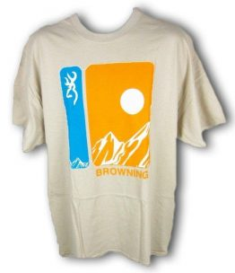 PLAYERA BROWNING SUMMIT S/S TEE SAND MED 3